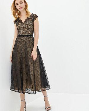 Вечернее платье осеннее черное Genevie