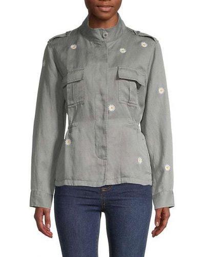 Длинная куртка с воротником с длинными рукавами с карманами Rails