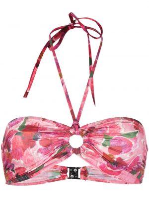 Пляжный красный лиф бандо с завязками Isabel Marant