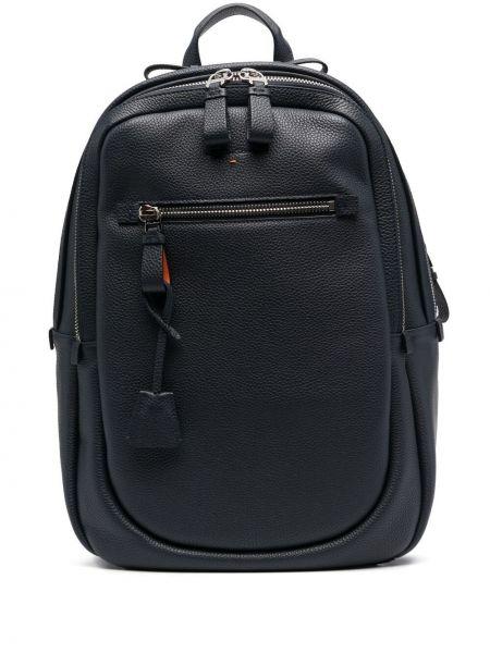 Niebieski plecak skórzany Santoni