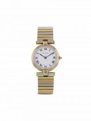 Белые часы Cartier