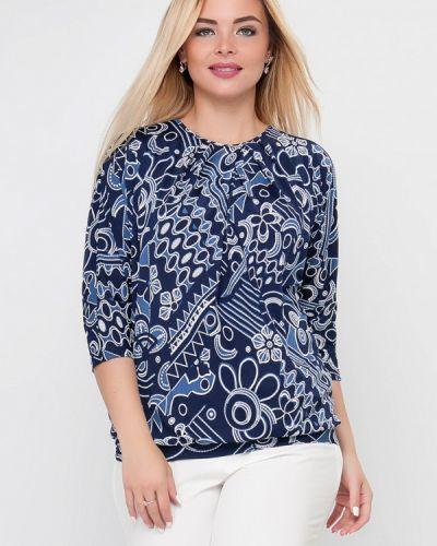 Блузка синяя Лимонти