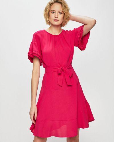 Платье мини с поясом из вискозы Silvian Heach