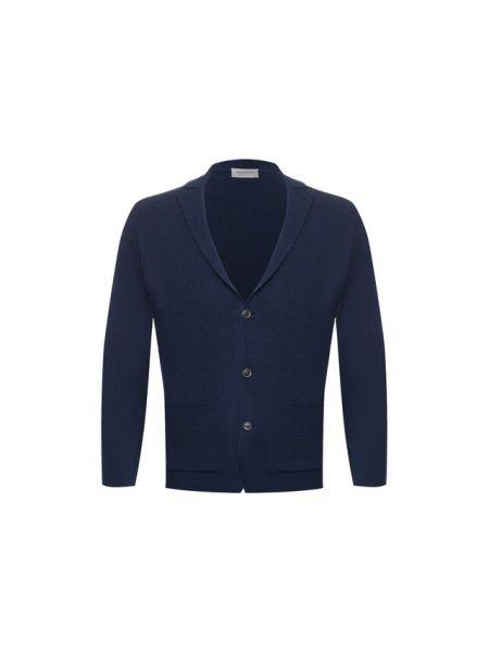Шерстяной приталенный пиджак с лацканами с карманами John Smedley