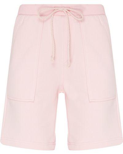 Розовые свободные хлопковые шорты карго Artem Krivda
