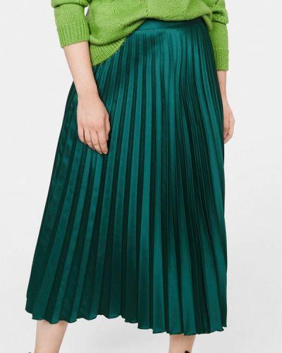 Плиссированная юбка турецкий зеленый Violeta By Mango