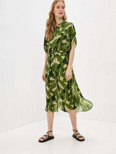 Платье платье-рубашка зеленый Nomi