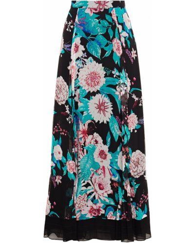 Шифоновая черная юбка макси с подкладкой Diane Von Furstenberg