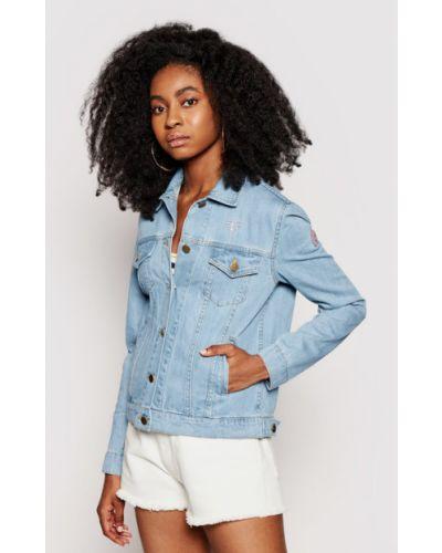 Niebieska kurtka jeansowa Femi Stories