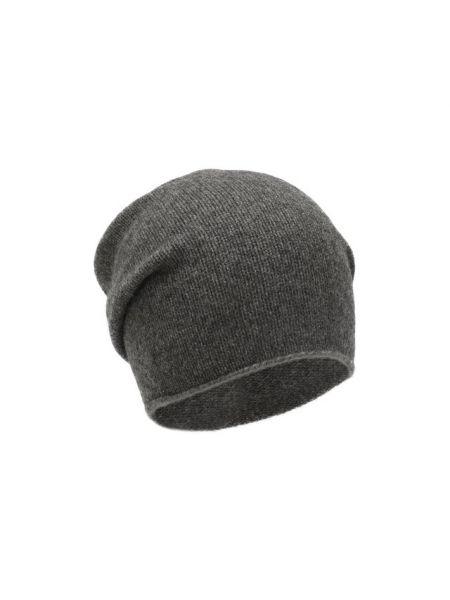 Шерстяная серая тонкая шапка Not Shy
