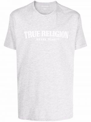 Лонгслив с принтом - серая True Religion