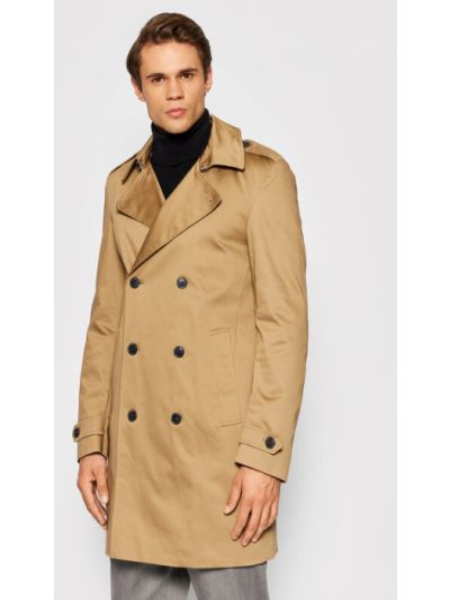 Płaszcz - brązowy Selected Homme