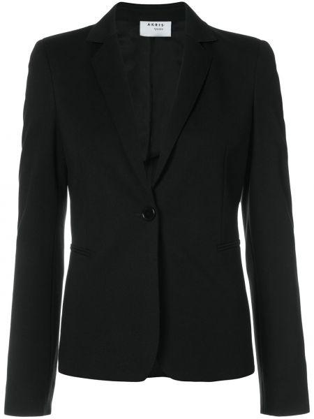 Черный приталенный пиджак из вискозы Akris Punto
