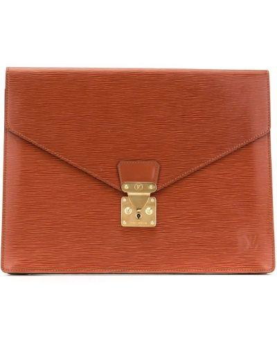 Коричневый клатч винтажный Louis Vuitton Pre-owned