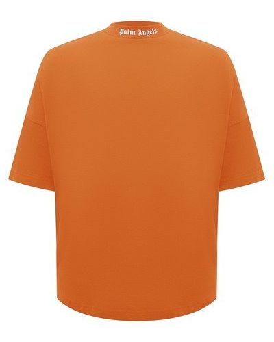 Оранжевая хлопковая футболка Palm Angels