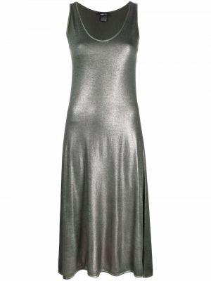 Платье миди с V-образным вырезом - серое Avant Toi