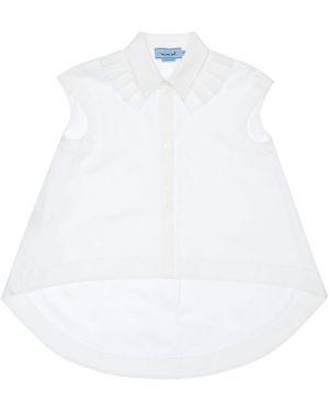 Biała klasyczna koszula krótki rękaw bawełniana Mimisol