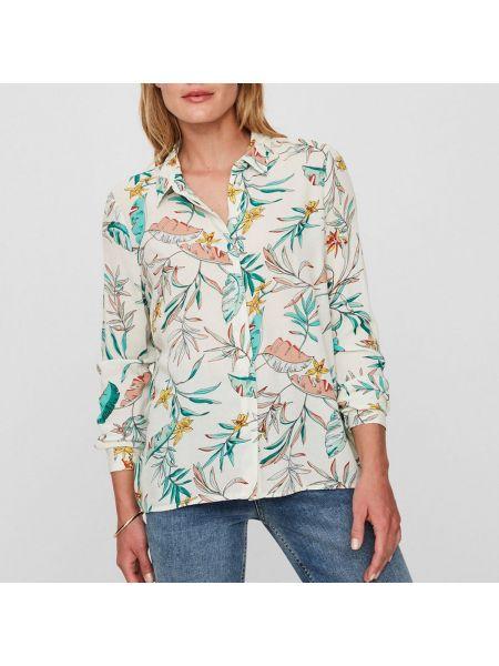 Блузка с длинным рукавом прямая из вискозы Vero Moda