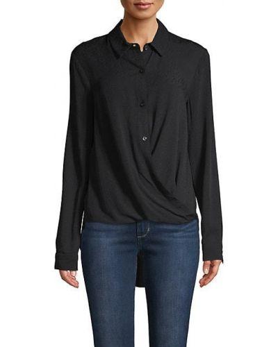 С рукавами черная рубашка с воротником Bcbgeneration
