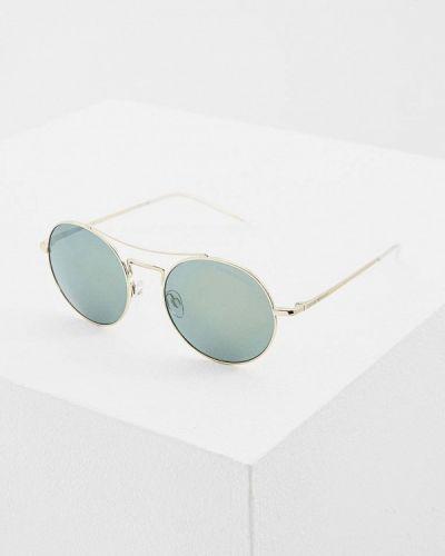 Солнцезащитные очки золотого цвета Emporio Armani