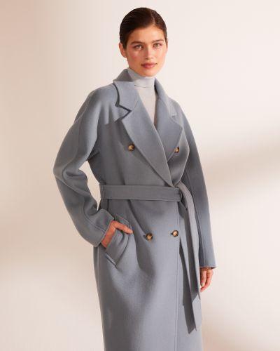 Шерстяное пальто - голубое 12storeez