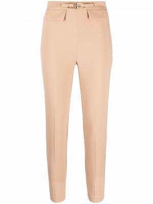 Укороченные брюки - бежевые Elisabetta Franchi
