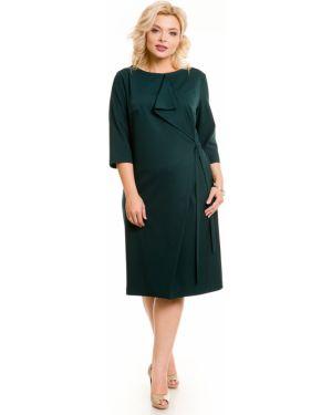 Платье с поясом через плечо со складками Novita