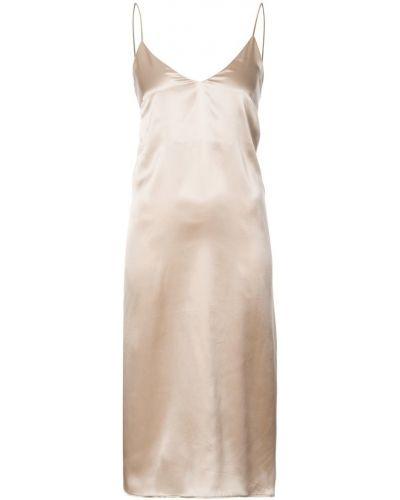 Платье миди с V-образным вырезом на бретелях Anine Bing