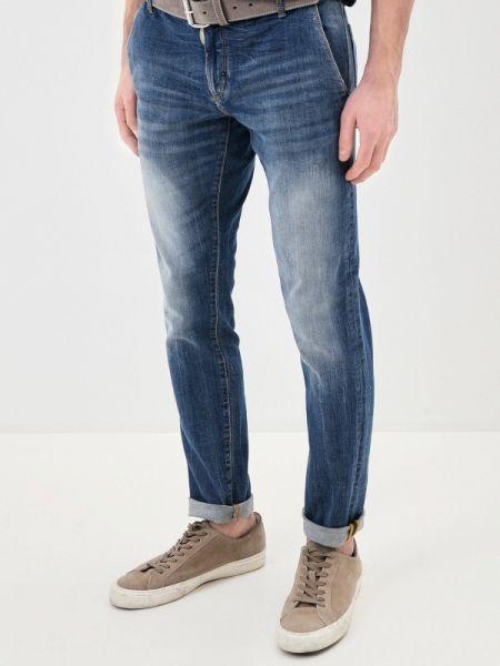 Синие зауженные джинсы-скинни из микрофибры Antony Morato