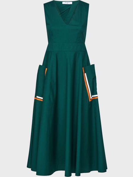 Хлопковое зеленое платье на молнии Beatrice.b