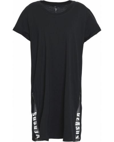 Платье мини короткое - черное Versus Versace