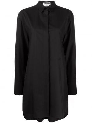 Рубашка с длинным рукавом - черная Jil Sander