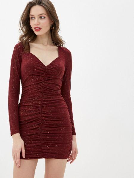 Вечернее платье бордовый осеннее Gepur