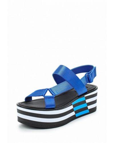 Синие босоножки на каблуке Aldo