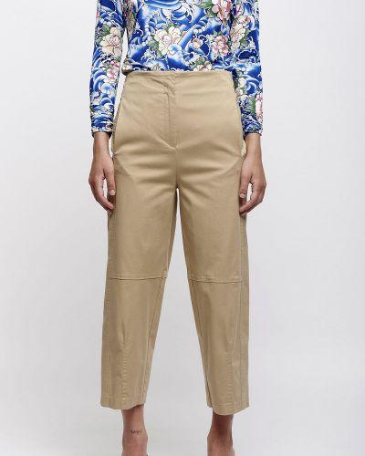 Хлопковые бежевые брюки Sfizio