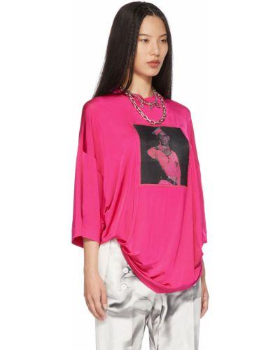 Czarna koszulka z siateczką Jean Paul Gaultier