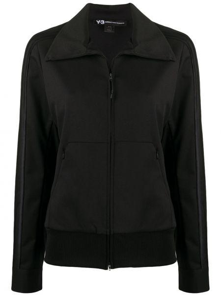 Черная спортивная куртка с манжетами Y-3