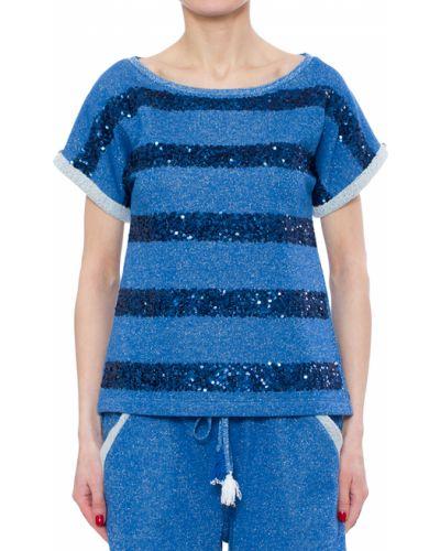 Голубая футболка хлопковая Patrizia Pepe