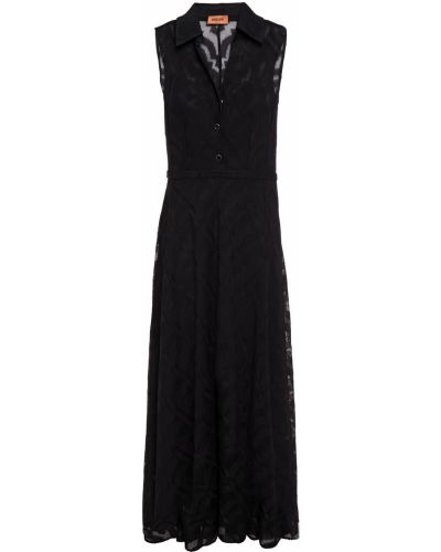 Черное платье миди из вискозы Missoni