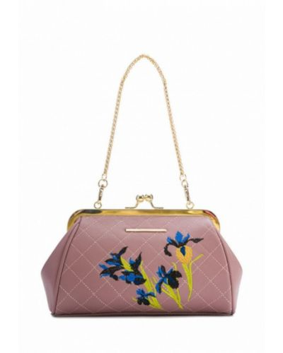 Кожаная сумка розовый весенний Artio Nardini