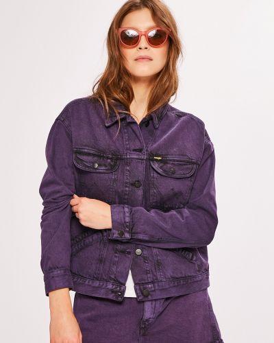 Джинсовая куртка укороченная в полоску облегченная Wrangler