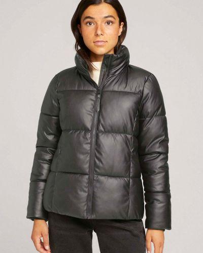 Черная куртка осенняя Tom Tailor Denim