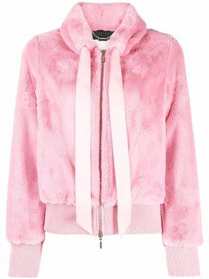 Розовая длинная куртка Blugirl