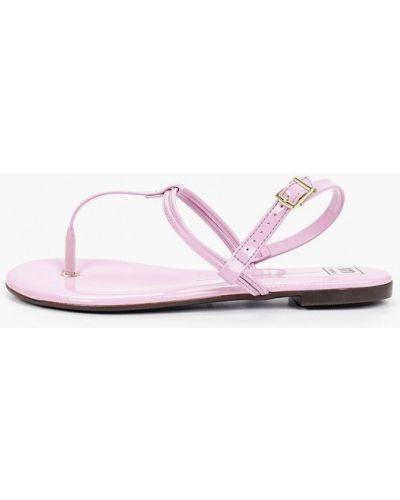 Лаковые фиолетовые кожаные сандалии Moleca