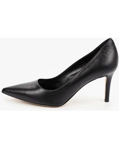 Черные кожаные туфли Pazolini