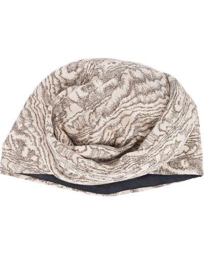 Beżowy jedwab turban rozciągać Missoni