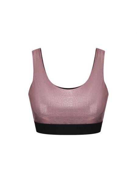 Спортивный нейлоновый розовый спортивный топ Heroine Sport