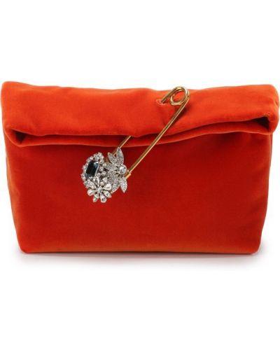 Оранжевая сумка вечерняя Burberry