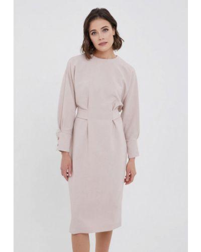 Прямое розовое платье Y.o.u.