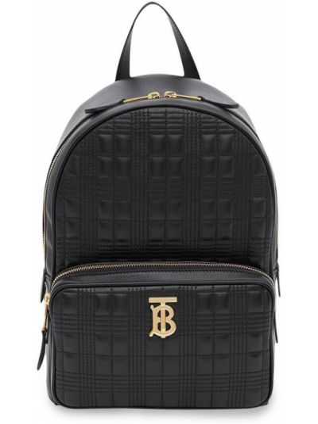 Skórzany plecak czarny pikowana Burberry
